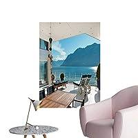 SeptSonne 壁デカール 海上での夕日 水辺のマジェスティ雲 環境保護ビニール 20 x 32inch(50x80cm)/1pc