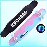 スケートボードロングボードの女の子スケートボードの男の子スケートボード初心者の少年スケートボードビッグスケートボードフラッシュホイールスケートボード (色 : Wave)