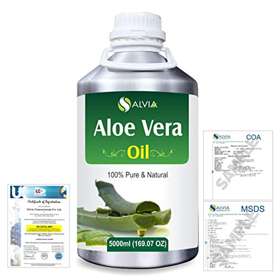 治す減衰鮫Aloe Vera 100% Natural Pure Undiluted Uncut Carrier Oil 5000ml/169 fl.oz.