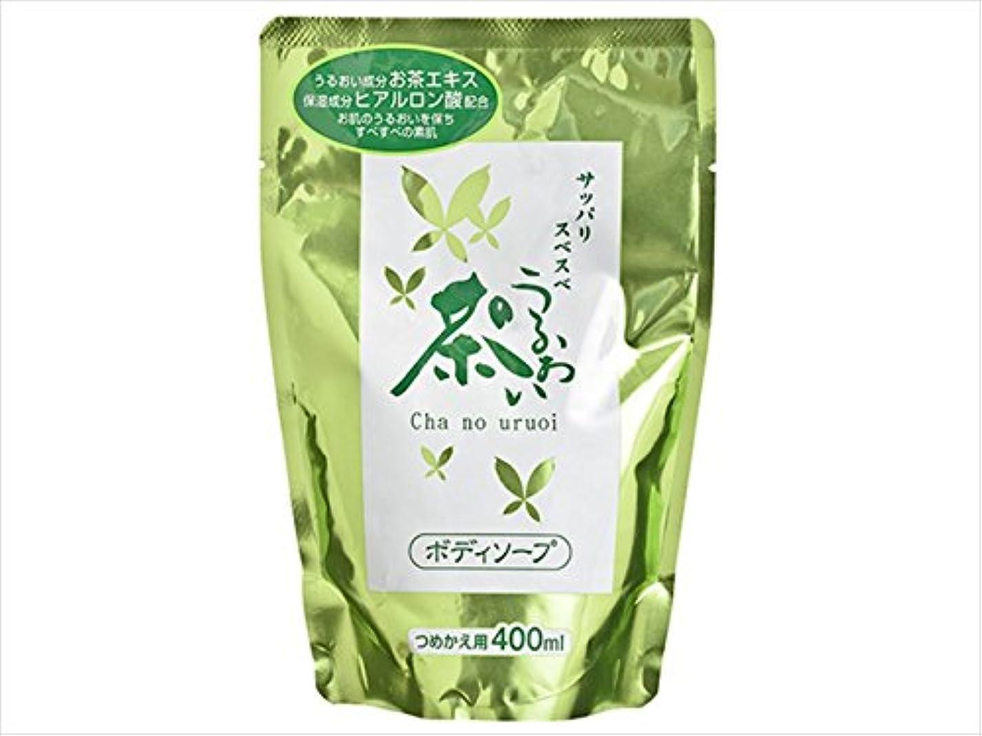葉っぱレーニン主義海洋のべっぴん堂 茶のうるおい ボディソープ つめかえ用 400ml