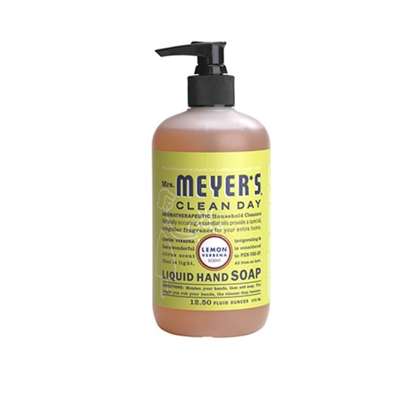 メイン感動する推進、動かすMrs. Meyers Clean Day, Liquid Hand Soap, Lemon Verbena Scent, 12.5 fl oz (370 ml)