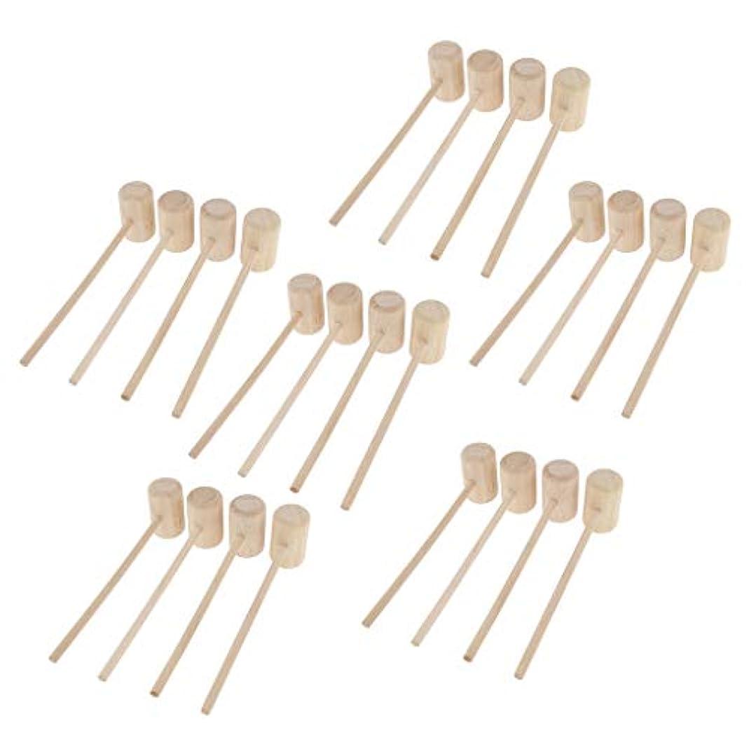 CUTICATE 24個 マッサージハンマー 木製ハンマー ボディマッサージ ツボ押しハンマー 手作り 軽量 ギフト