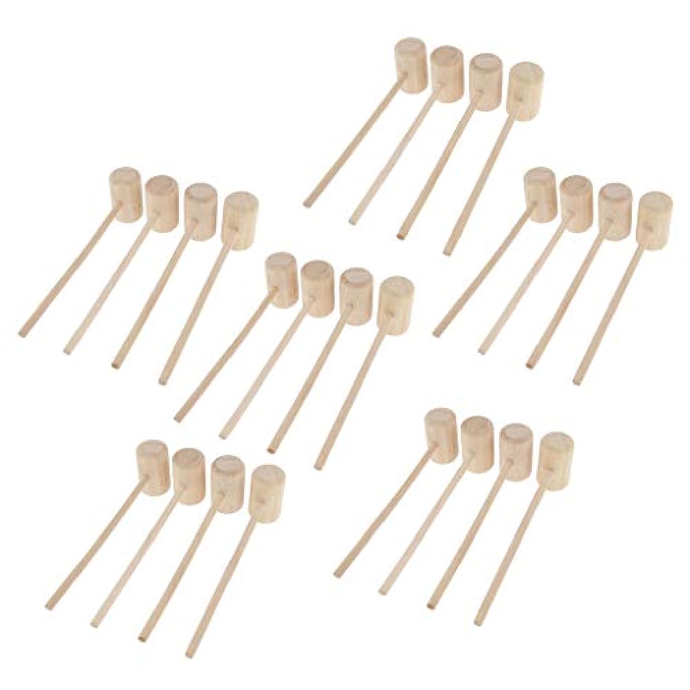 確かにパンガチョウCUTICATE 24個 マッサージハンマー 木製ハンマー ボディマッサージ ツボ押しハンマー 手作り 軽量 ギフト