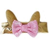 G & G – かわいい赤ちゃん女の子Easter Bunny EarsスパンコールヘッドバンドHeadwrapピンクゴールド