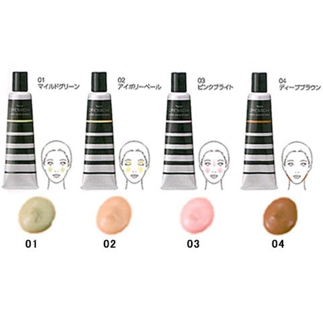 クラウンうつ矢じりナリス化粧品 ドレスディア カラーコントロールベース部分用 化粧下地 20g 04 ディープブラウン