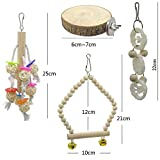 Barleycorn バードトイ 鳥おもちゃ オウムブランコ 鳥グッズ 鳥の遊び場 吊下げタイプ玩具 セキセイインコおもちゃ 噛む玩具 原木 (8点セット) 画像