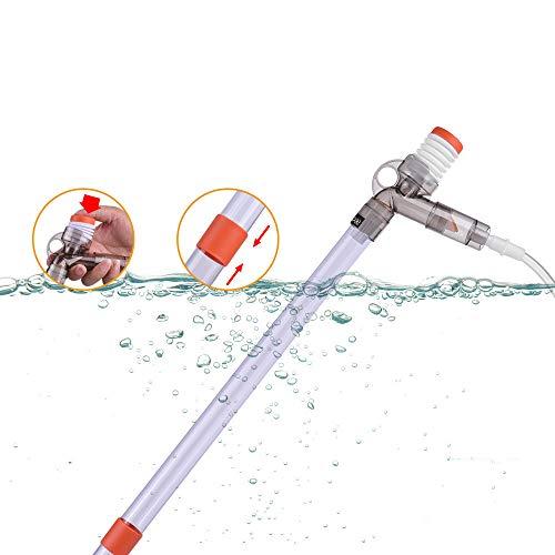 Dadypet 水交換ポンプ 水換え 水槽掃除用品 アクアリ...