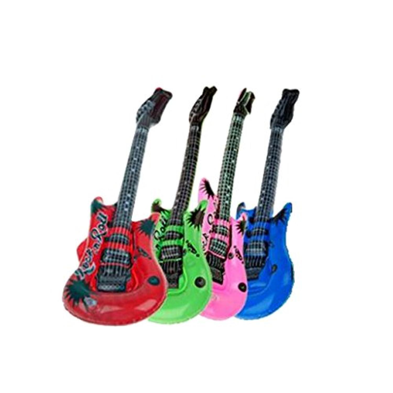 Perfeclan ギターバルーン エアー ギター 楽器おもちゃ 風船 パーティー おもちゃ 色ランダム
