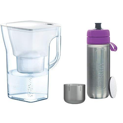 ブリタ 浄水 ポット 1.3L ナヴェリア + ブリタ 水筒 携帯用 浄水器 ボトル フィル&ゴー アクティブ パープル