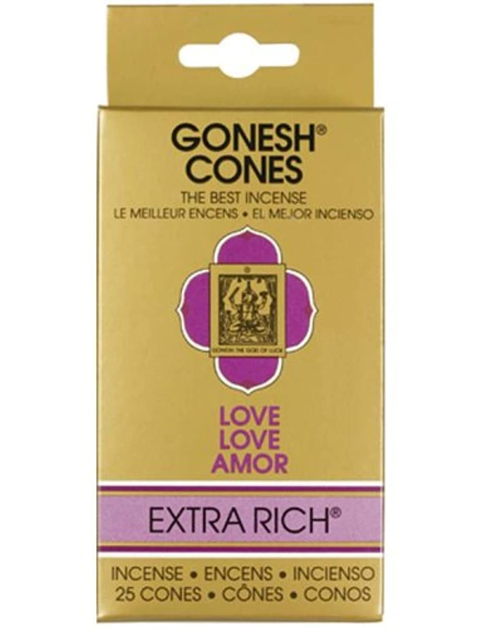 少年上院議員花瓶GONESH インセンスエクストラリッチ コーン ラブ