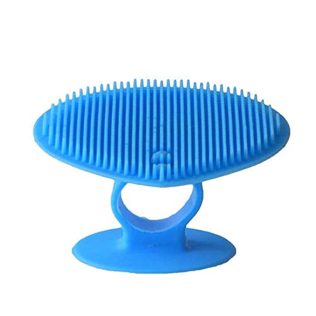 蓄積する反逆分岐する洗顔ブラシ ソフトシリコンフェイスクリーニングブラシマニュアルフェイシャルマッサージブラシハンドヘルドマットスクラバーメイクアップブラシフェイスエクスフォリエーター ディープクレンジングスキンケア用