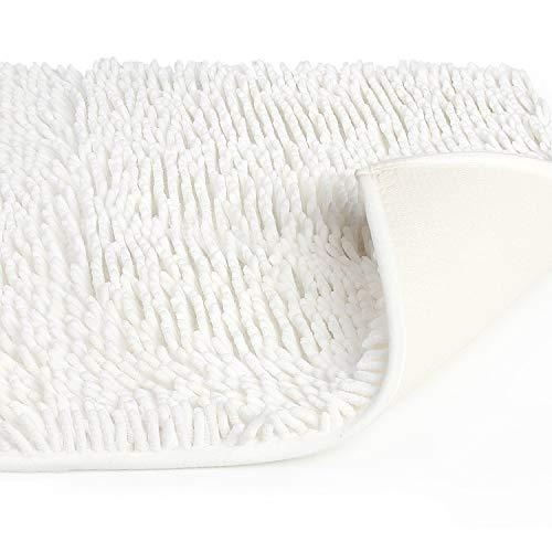 Vdomus バスマット 足ふきマット 速乾 吸水 抗菌 ふわふわ 丸洗い 風呂 浴室 玄関 マット 50x80cm (ホワイト)