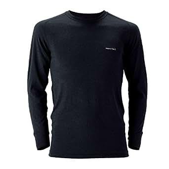 (モンベル)mont-bell スーパーメリノウールM.W.ラウンドネックシャツ Men's ブラック(BK) L 1107235
