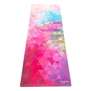Yoga Design Lab (ヨガデザインラボ) ヨガマット 厚さ 1.5mm コミューターマット 折りたたみ ストラップ付 トライベッカサンド