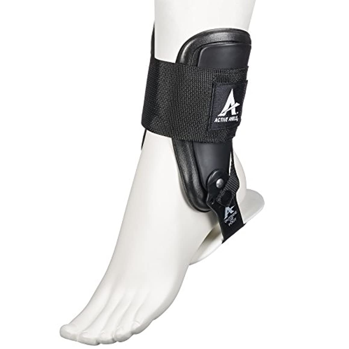 キャリアレタッチ比類のないActive Ankle T2 Rigid Ankle Brace-M-Black by Active Ankle