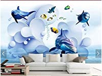Bzbhart カスタム壁紙3Dテレビ壁紙壁画純粋で新鮮な3D波水中背景壁3Dリビングルームの壁紙-250cmx175cm