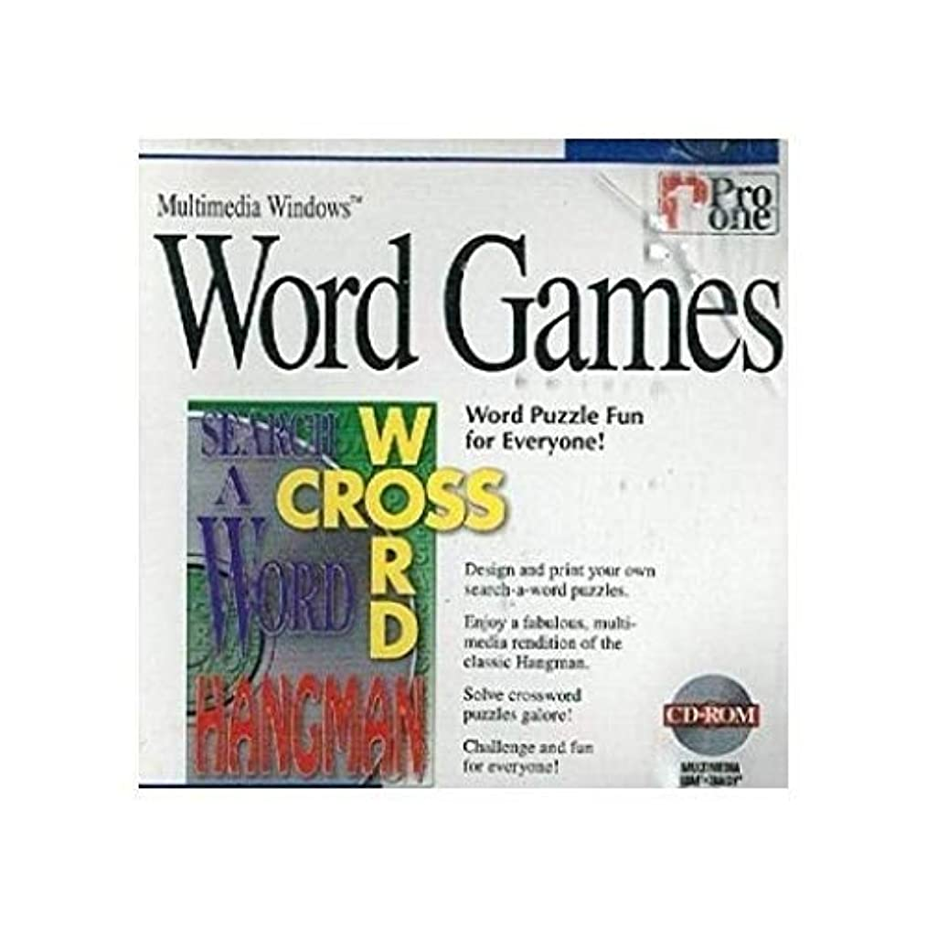 火薬ペルメル放送[CD-ROM] Word Games by Pro One for Multimedia Windows 3.1, 95 or higher (輸入版)
