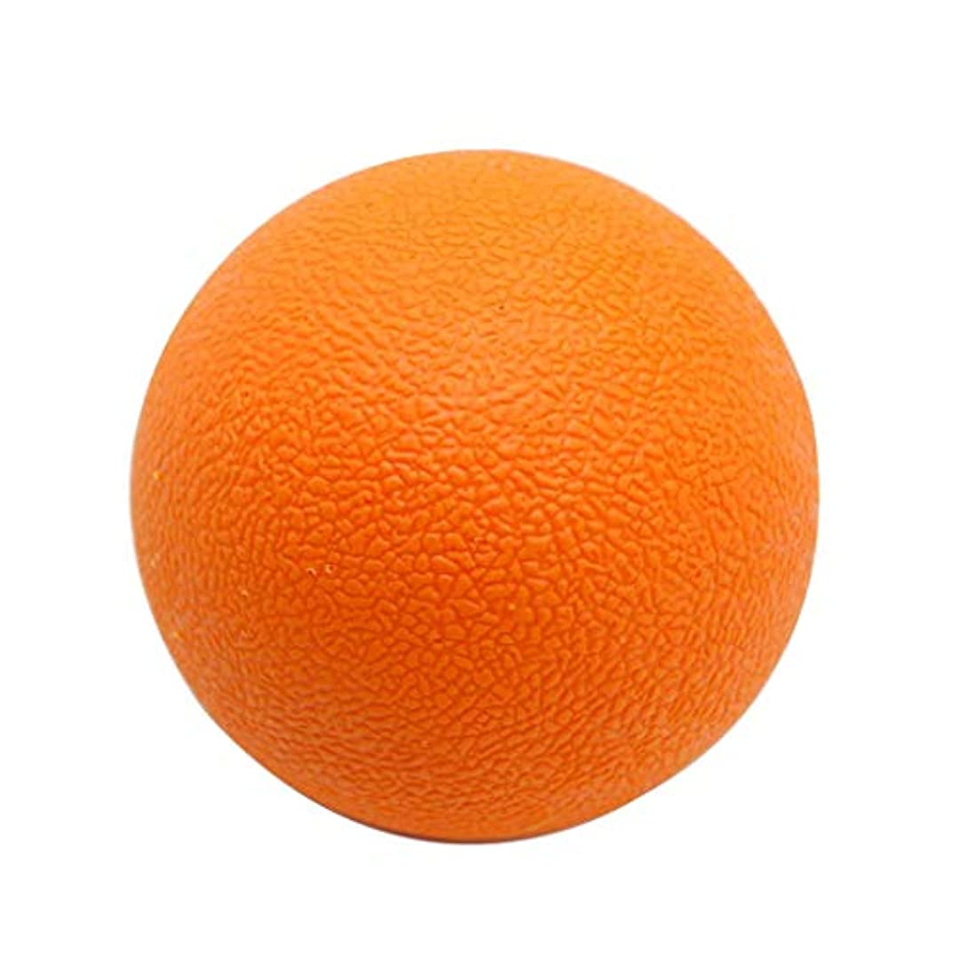 事実情熱的膨張するラクロスボール マッサージボール トリガーポイント 筋膜リリース 背中 首 ツボ押しグッズ オレンジ