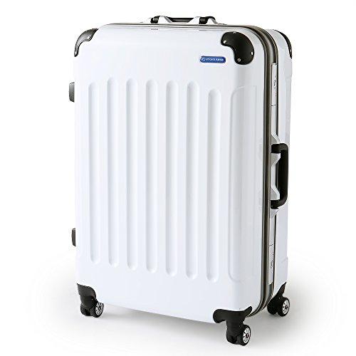 LOWYA (ロウヤ) スーツケース TSAロック ポリカーボネート アルミフレーム 双輪キャスター 中型 M 51L ホワイト
