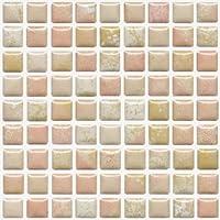 ピコレカラー ピンクミックス モザイクタイル シート 15mm角 ピンク 1シート