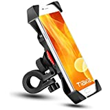 Bike Phone Mount Tiakia Anti Shake and Stable Cradle Clamp with 360° Rotation Bicycle Phone mount / Bike Accessories / Bike Phone Holder for iPhone for iPhone 7/7+/6/6+/6S/6S+/5S/5C, Samsung Galaxy S3/S4/S5/S6/S7/S8 Note 3/4/5,Nexus,HTC,LG & GPS Devices Android GPS Other Devices Between 3.5 to 6.5 inches (PB03-AC-Black)