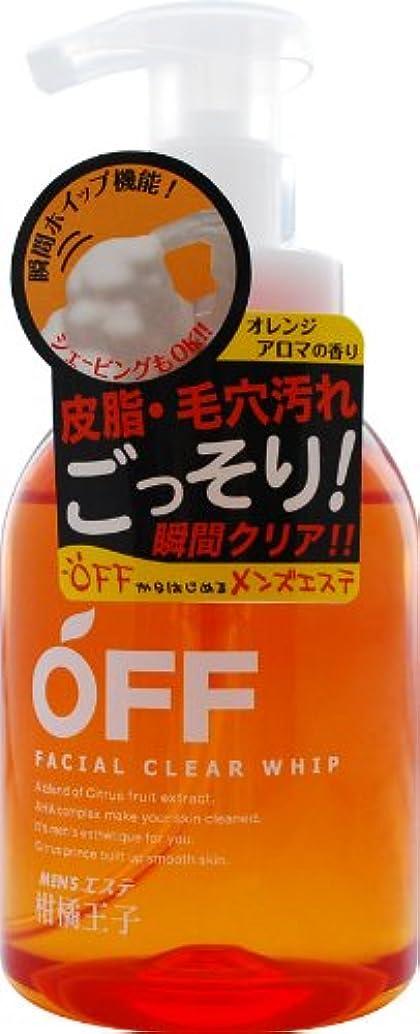 速記日常的に感度柑橘王子 フェイシャルクリアホイップN 360ML