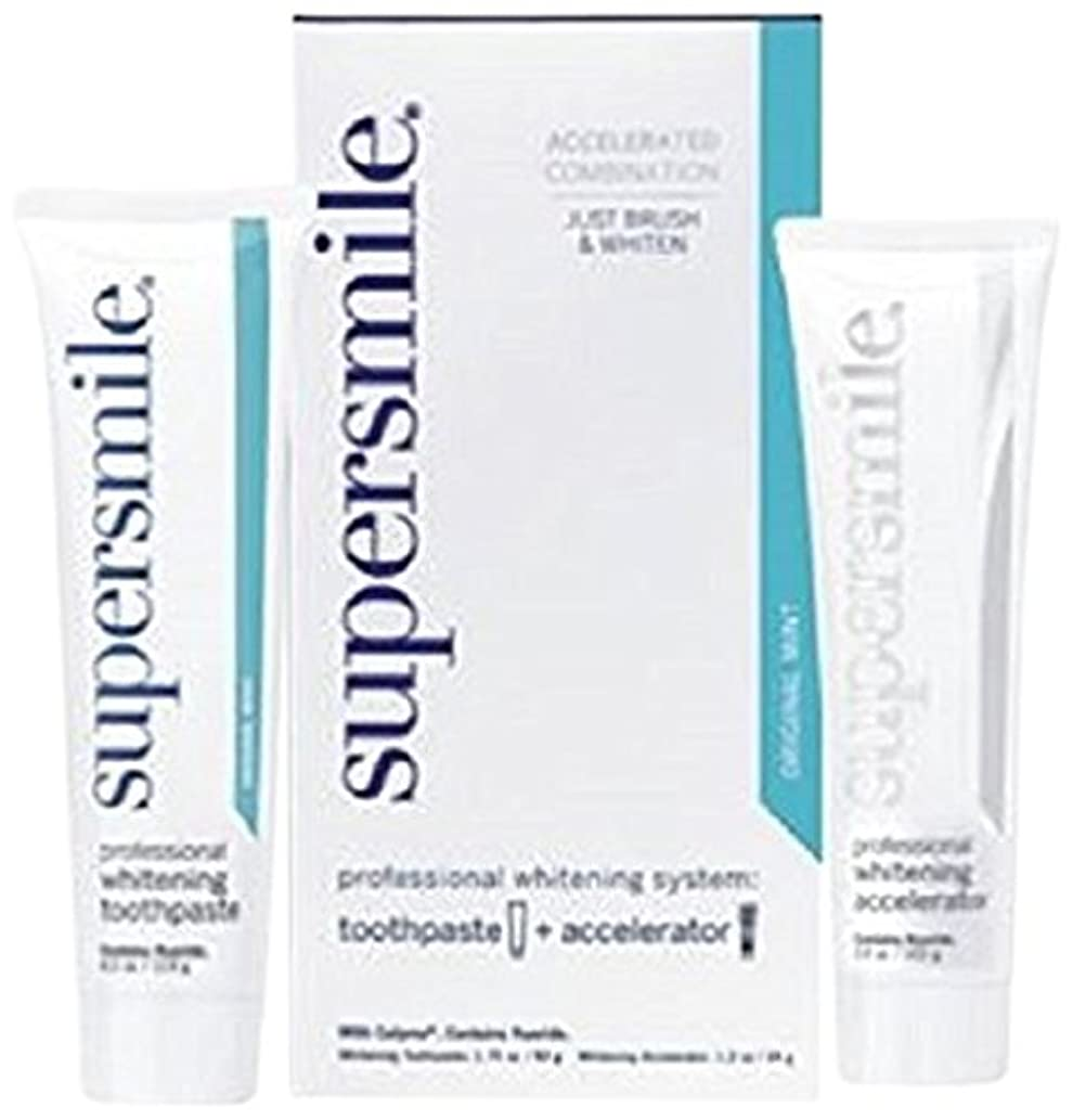 一方、追い付く混乱させるSupersmile Professional Whitening System: Toothpaste 50g/1.75oz + Accelerator 34g/1.2oz - 2pcs by SuperSmile
