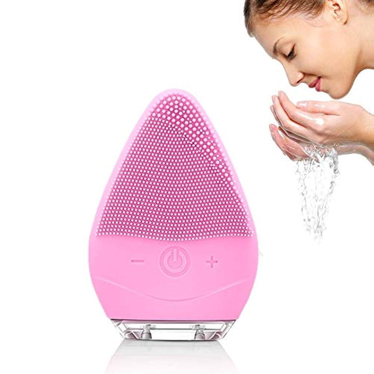 乱気流シーンフェイスクレンジングブラシ防水シリコンフェイシャルブラシエレクトリックフェイスVībratingマッサージャーデバイスfor Skin Clean for Level 6防水