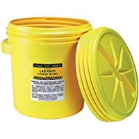 [イーグル]Eagle Yellow BlowMolded HDPE Lab Pack with Screw Top Lid, 20 gallon Capacity, 20.75 Height, 20.5 Diameter [並行輸入品]