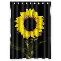 ファッション ヒマワリ カスタム ウィンドウカーテン遮光52x72 約132cm(W)x 183cm(H)