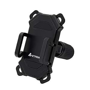 【改良版自転車ホルダー】 AMZtronics 自転車ホルダー GPSナビ/ スマートフォン用 固定用マウントキットバイクスタンド 保護バンド付き5.5インチ iPhone7 plus まで対応可能 脱落防止