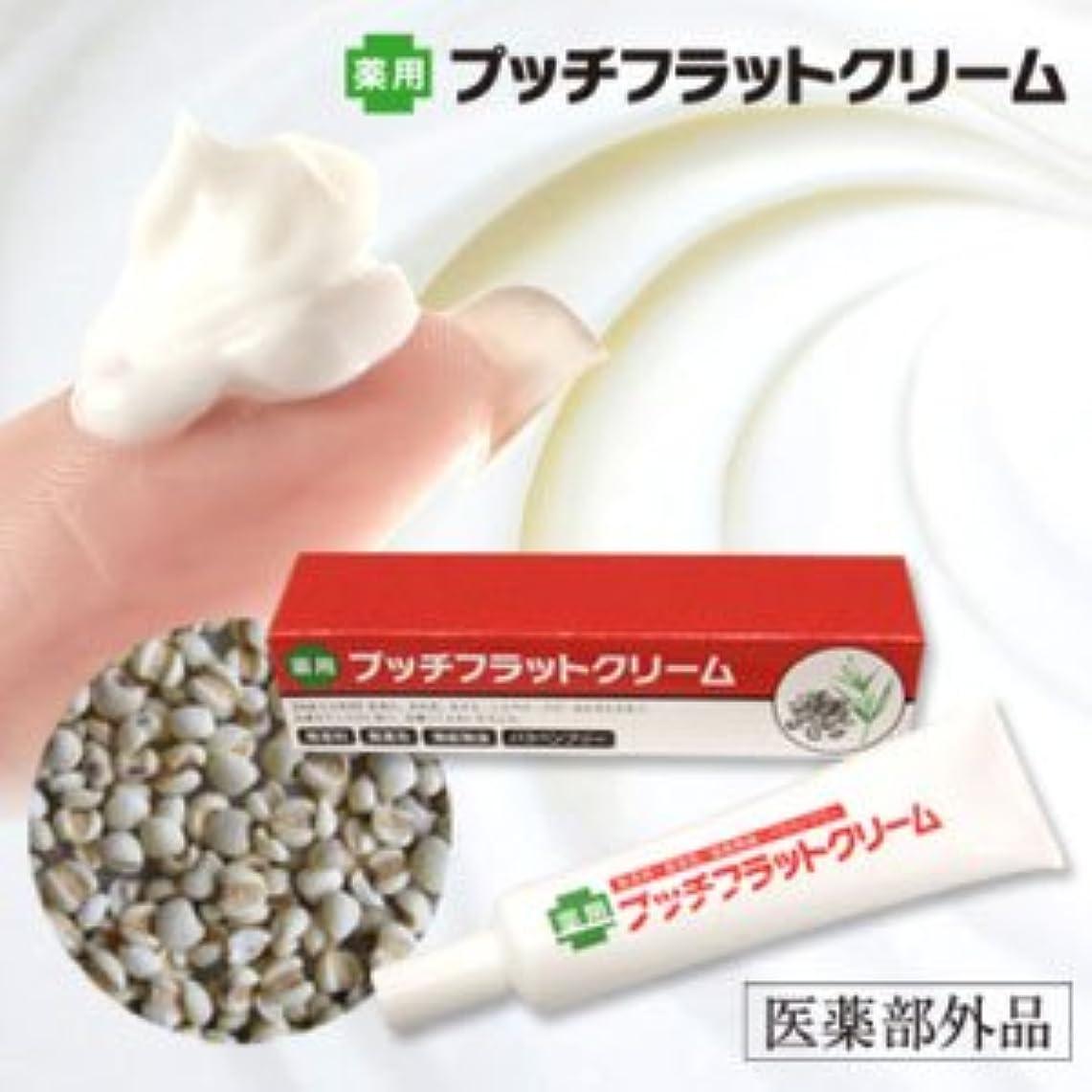 有害なゆでる講義薬用プッチフラットクリーム(医薬部外品)
