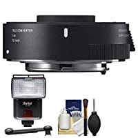 Sigma TC - 14011.4X Teleconverter withフラッシュ+ディフューザー+キットfor Canon EOSデジタル一眼レフカメラ