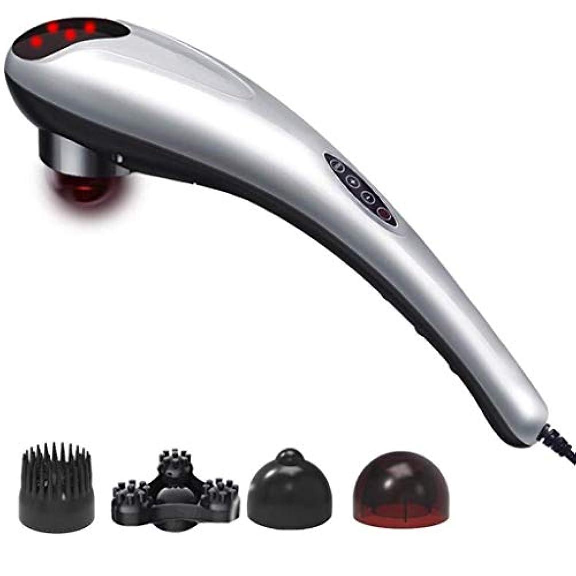 電気マッサージ機、指圧肩と首のマッサージ、首の背中の肩の腰と脚に適した加熱ディープニーディングバックマッサージ、ホームカーオフィスで使用可能