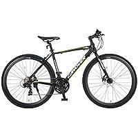CANOVER(カノーバー) クロスバイク 700C シマノ21段変速 適応身長:160cm以上 CAC-027-DC (ATENA) フロントディスクブレーキ アルミフレーム フロントLEDライト付 [メーカー保証1年]