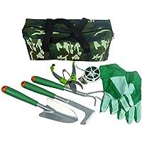 CUKKE 7点 ガーデニングツール 園芸用品セット 園芸ツール 多用途組み合わせセット ガーデン作業 庭園作業 菜園 除草 小型鉢植えなどもでき 収納ボックス付き