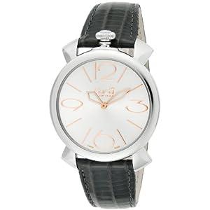 [ガガミラノ]GaGa MILANO 腕時計 MANUALE THIN46mm シルバー文字盤 カーフ革ベルト 5090.01 メンズ 【並行輸入品】