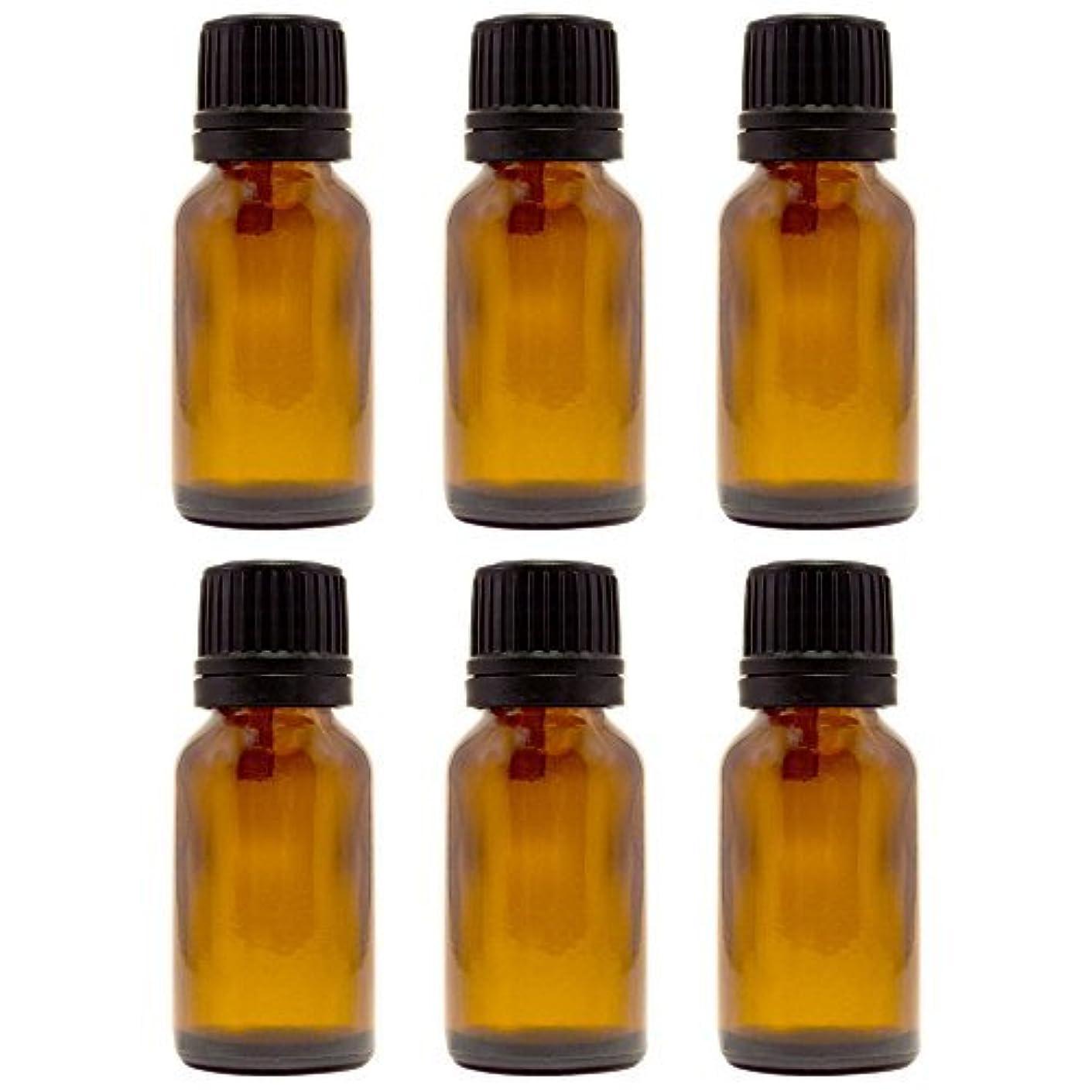 あたりベルベット白菜15 ml (1/2 fl oz) Amber Glass Bottle with Euro Dropper (6 Pack) [並行輸入品]