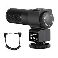カメラマイク ビデオカメラマイク FawBrow 外付けマイク 外部マイク ステレオ 集音マイク 汎用型