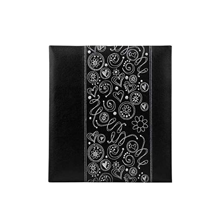 立法冷えるアラバマGYHS フォトアルバム、クリエイティブギフトレザートラディショナルアルバム、大容量で100?200枚の写真に対応、ブラック (Color : Black)