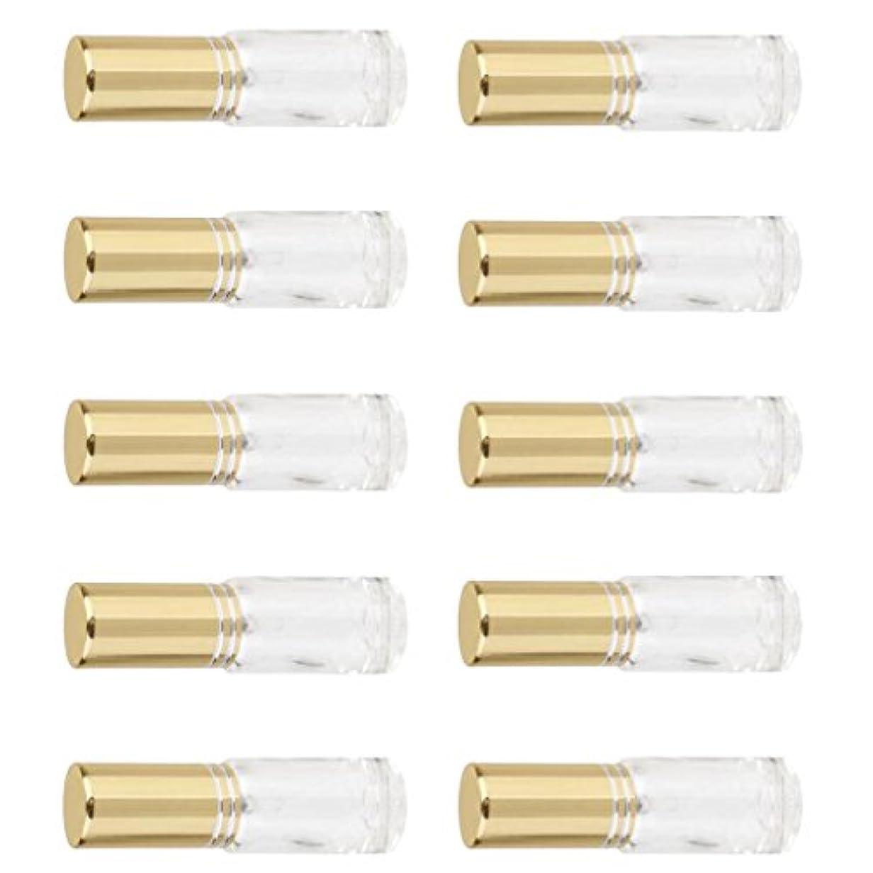 セール聖歌大聖堂Kesoto お買い得 男女兼用 香水瓶 ミニ  ガラス  詰め替え可能 香水 アトマイザー ポンプ スプレー 香水瓶 容器 5ml 10個入り