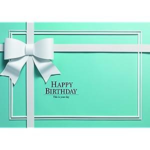 イエスタ Happy Birthday ハッピーバースデー ロイヤルブル- 誕生日 背景ポスター ブルー