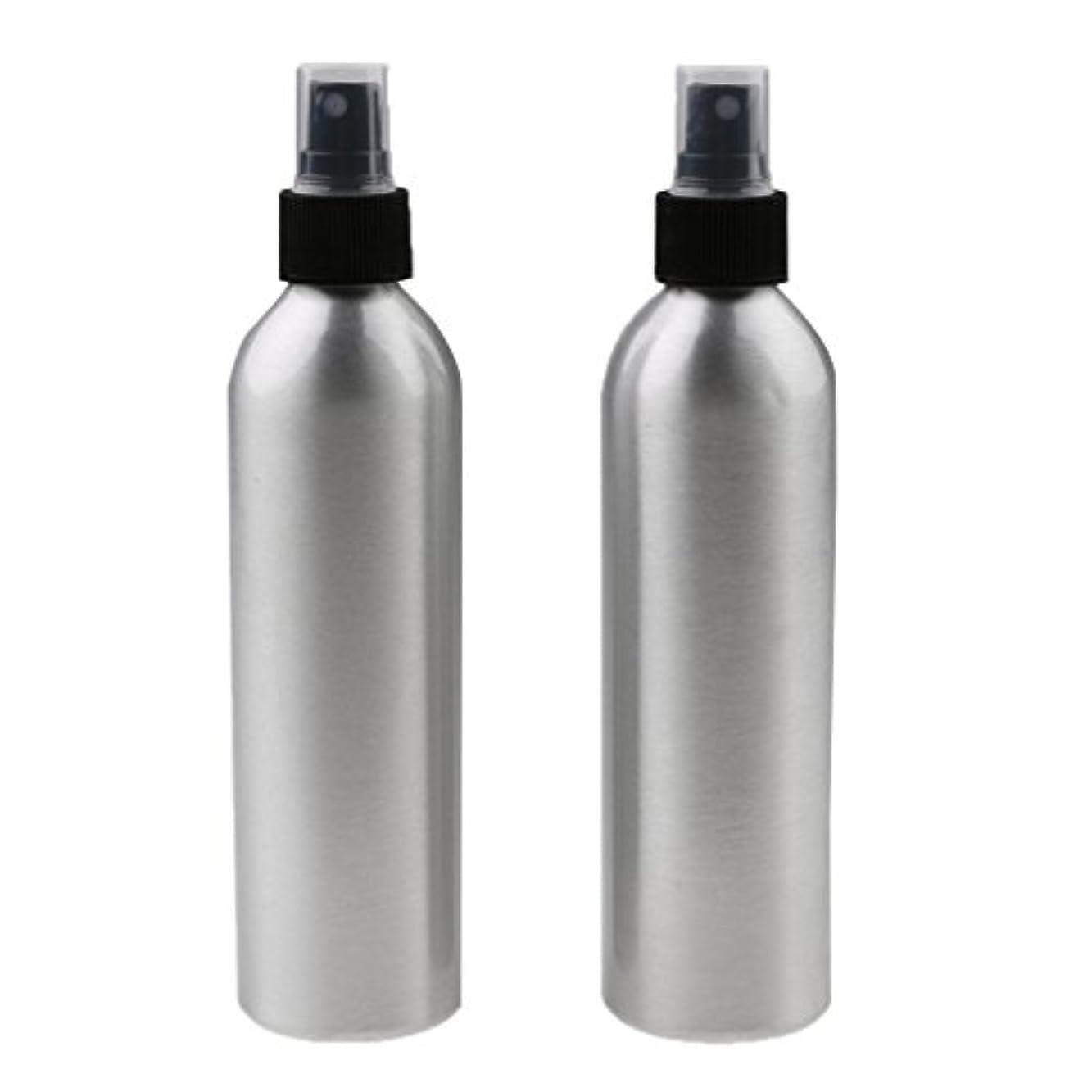 Kesoto 2個入り 旅行 アルミ ミスト スプレー 香水ボトル メイクアップ スプレー アトマイザー 女性用 美容 小物 軽量 持ち運び便利 全4サイズ - 100ml