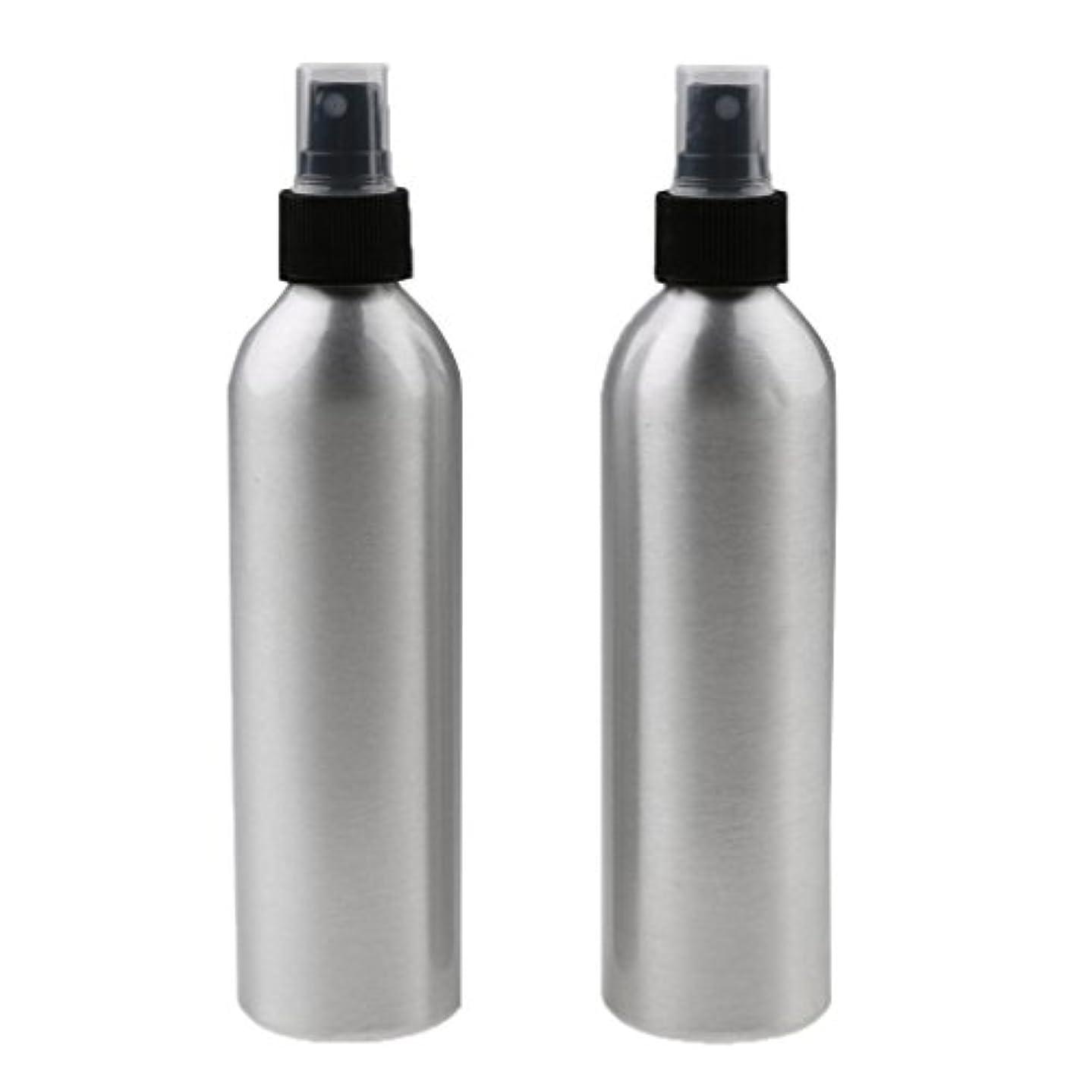地上の工夫する気晴らしSONONIA 2個入り 旅行 アルミ ミスト スプレー 香水ボトル メイクアップ スプレー アトマイザー 小分けボトル  漏れ防止 出張 海外旅行用 全4サイズ - 100ml