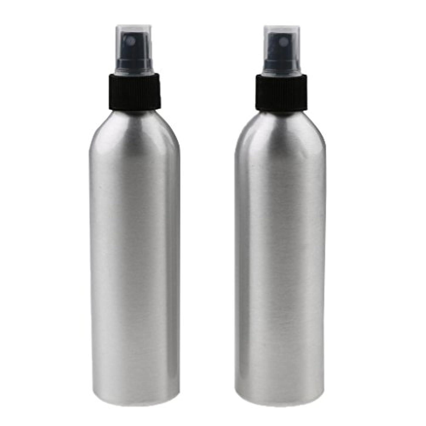 程度挨拶大量Kesoto 2個入り 旅行 アルミ ミスト スプレー 香水ボトル メイクアップ スプレー アトマイザー 女性用 美容 小物 軽量 持ち運び便利 全4サイズ - 100ml