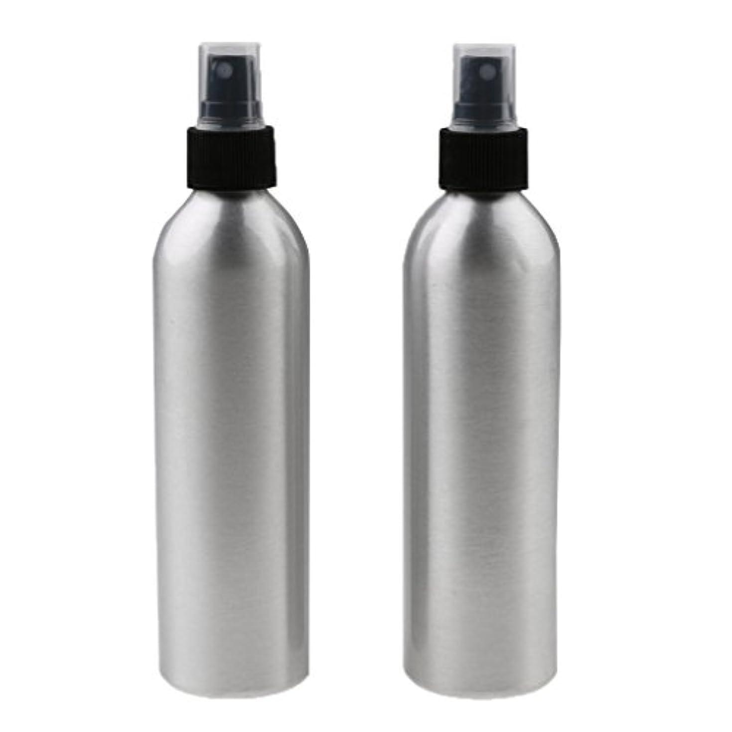 オーケストラ妻密度SONONIA 2個入り 旅行 アルミ ミスト スプレー 香水ボトル メイクアップ スプレー アトマイザー 小分けボトル  漏れ防止 出張 海外旅行用 全4サイズ - 250ml