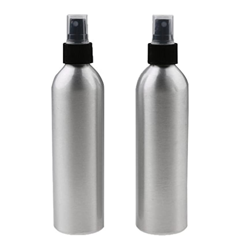 に対処するシンプトン牽引2個入り 旅行 アルミ ミスト スプレー 香水ボトル メイクアップ スプレー 小分けボトル  全4サイズ - 250ml