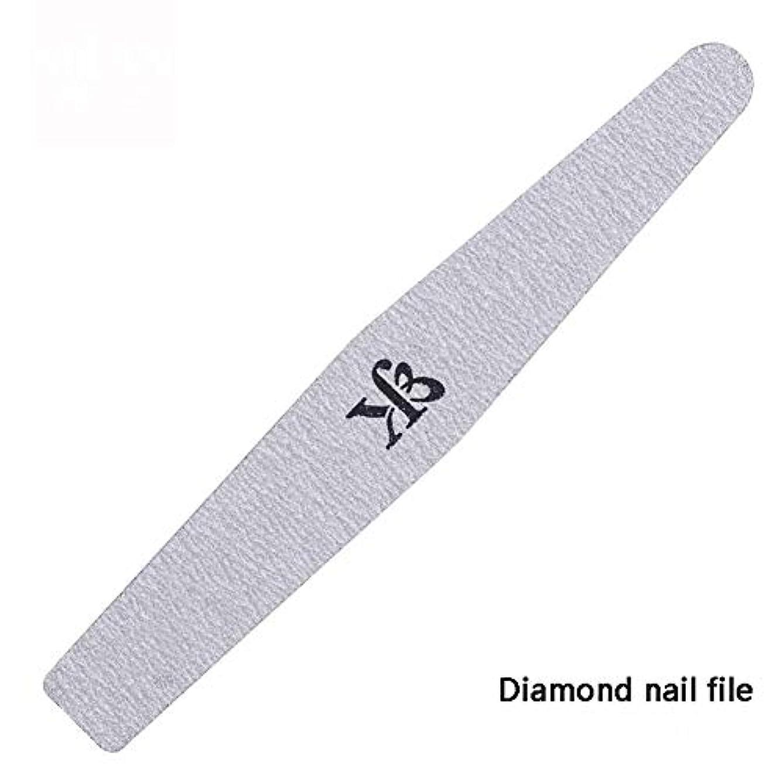 ハブシャワー子羊ネイルファイルスポンジ両面ダイヤモンドプロフェッショナルネイルケアペディキュアツール