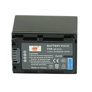 DSTE® アクセサリ NP-FV70 互換 カメラ バッテリー  対応機種 DCR-SR15 SX83E SX43E HDR-CX380 CX430V PJ760V