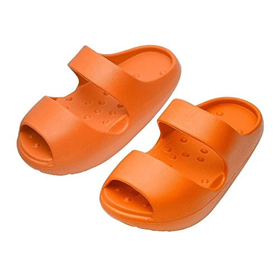 オープナー繁雑強大な痩せるサンダル 履くながらダイエットスリッパ 美脚 脂肪燃焼 足長22.5~24センチ対応 (橙)